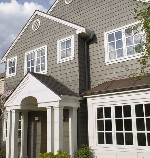 Similar colors are Spalding Gray 6074 and Pure White 7005 by Sherwin-Williams