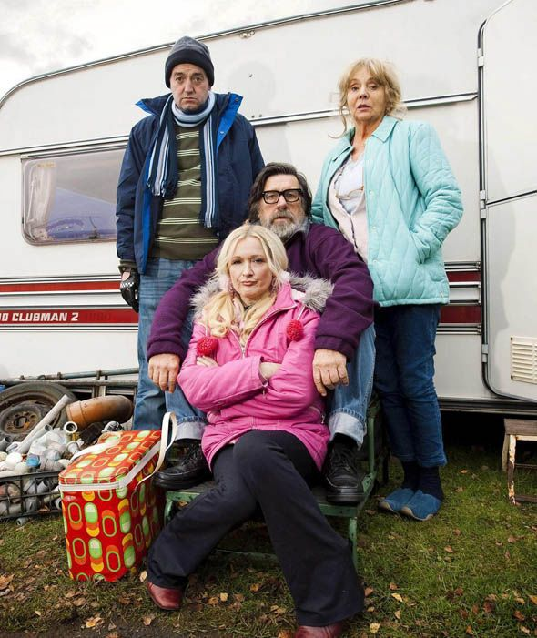 Craig Cash, Sue Johnston, Ricky Tomlinson and Caroline Aherne in a Royle Family Christmas Special.