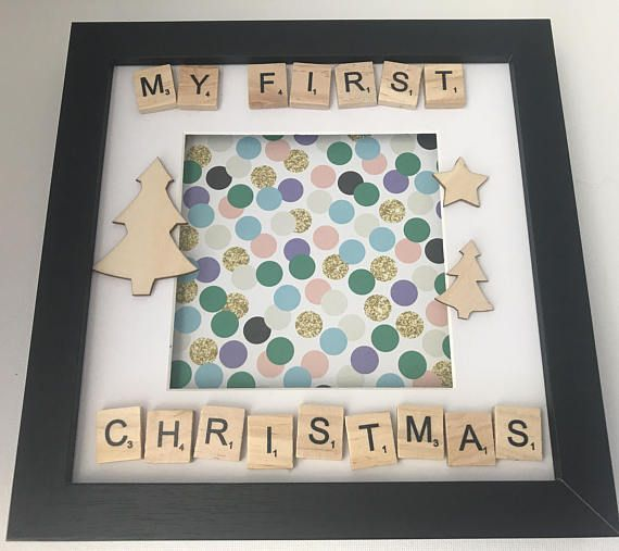 My First Christmas Scrabble Frame, Precious moments