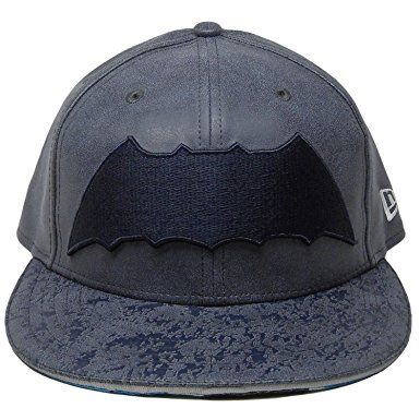 "NEW ERA 59Fifty Hat Batman ""THE DARK KNIGHT RETURN"" Armor Navy Blue Fitted  Cap 8d195785687"