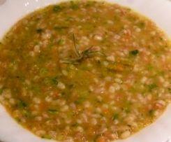 Zuppa di orzo farro e verdure