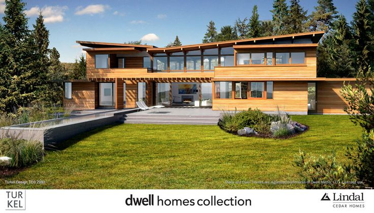 Beautiful homes by Lindal Cedar Homes! I love this Turkel design for the Dwell Homes Collection in the Lindal Architects Collaborative. www.lindal.com