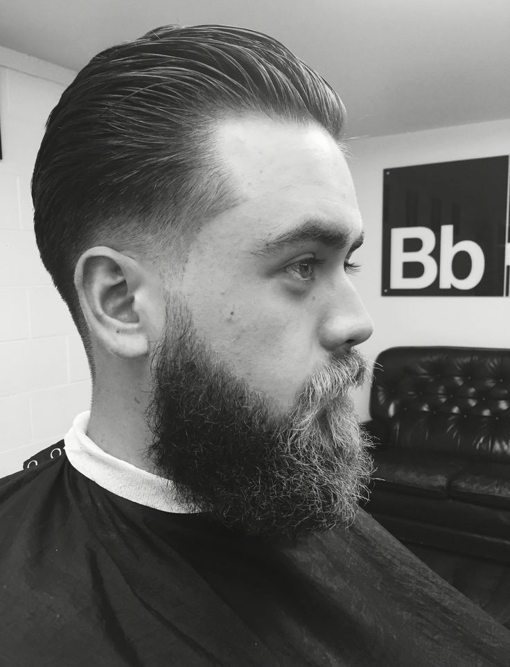 Low fade sick back w bad boy beard @ the basement barber NZ
