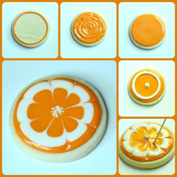 step by step orange cookie how to