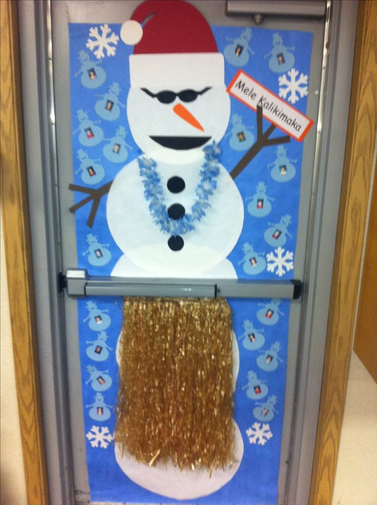 My School Had A Christmas Door Decorating Contest My