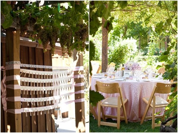 Country pink design at Healdsburg Country Gardens