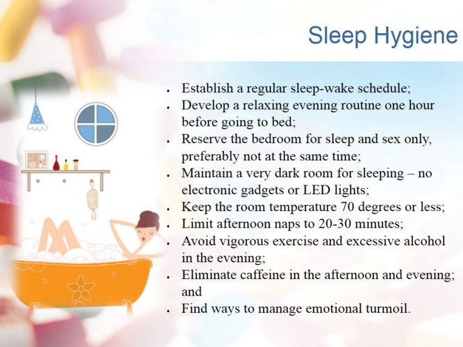 Follow these rules for a good nights sleep..