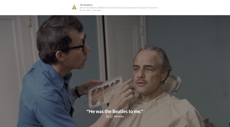 """Dick Smith applying makeup to Marlon Brando during production of """"The Godfather"""" in 1972. https://medium.com/art-science/he-was-like-the-beatles-to-me-28a428b1c72e#.8a9xbwlae"""