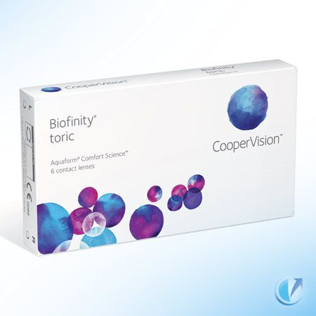 Send Me Contacts is having great success with these lenses in our practice. Patients love them for their comfort. CooperVision® Biofinity Toric 6 Pack Soft Contact Lenses utilize an innovative material to provide lens wearers with comfort, moisture and durability.