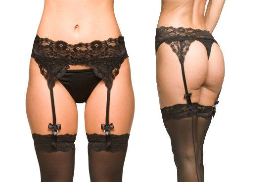 Black Lingerie Lace Garter Belt by NaughtyNaughty on Etsy, $60.00
