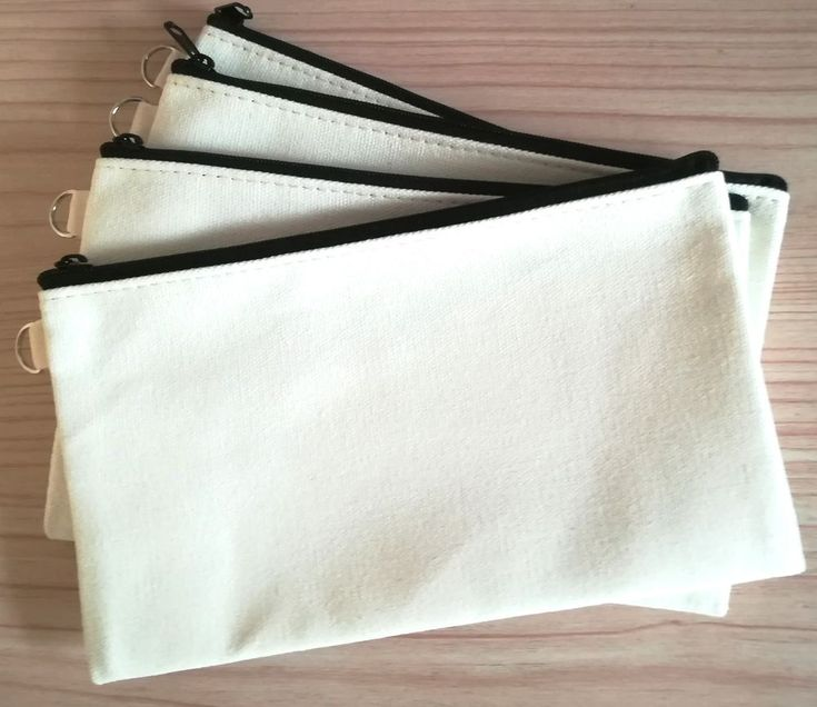 20x Eco Canvas Makeup Bag DIY blank Cosmetic Purse Clutch bag Kids Gift Pen case #Unbranded #Wedding