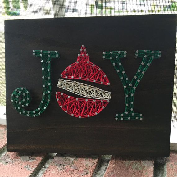 MADE TO ORDER Joy String Art Wooden Sign by StringSimply on Etsy