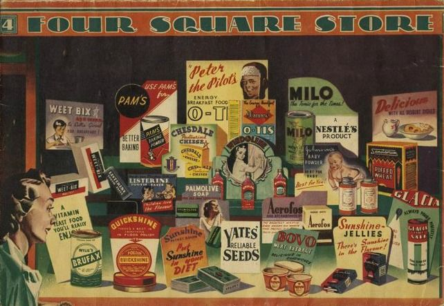 Vintage Kiwiana Poster for Four Square Store | Prints.co.nz