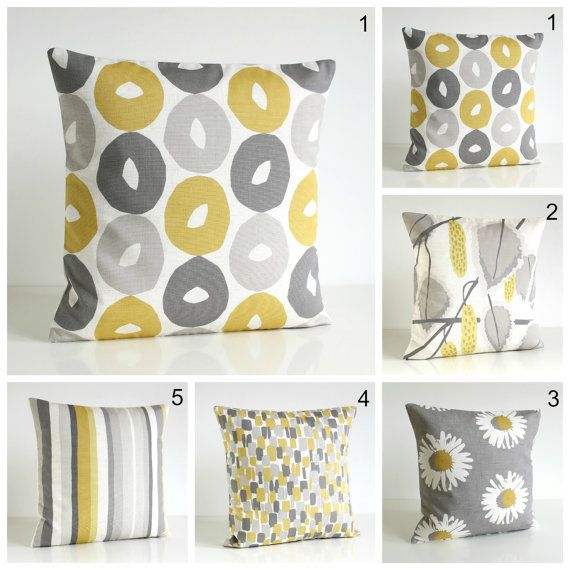 Scandinavian Pillow Cover, 20 Inch Pillow Sham, 20x20 Cushion Cover - Scandi Mustard Collection