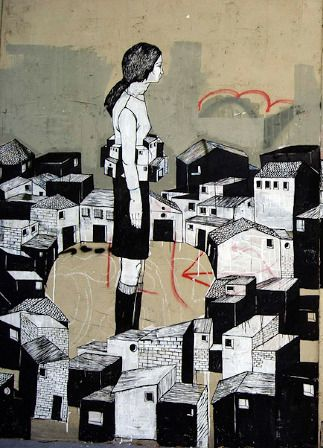 by  HYURO Hyuro,  Valencia 2013  #Hyuro #streetart #urbanart #graffitiart #wallmural #art