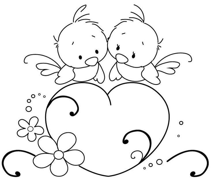 Открытки на день святого валентина нарисованные
