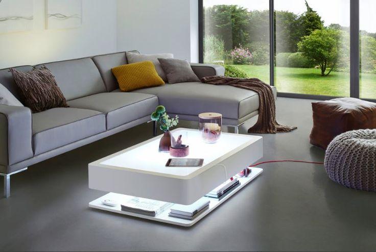 Lumineuse table basse Led avec télécommande pour choisir sa couleur préférée ou à piloter depuis son Iphone