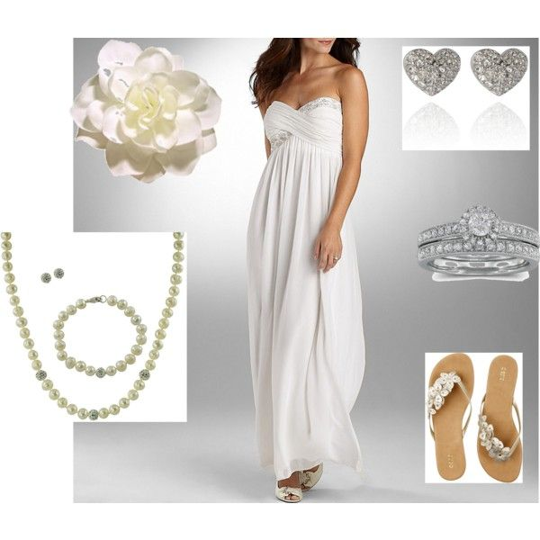 Amazing Beach Wedding Dress With Sandals For