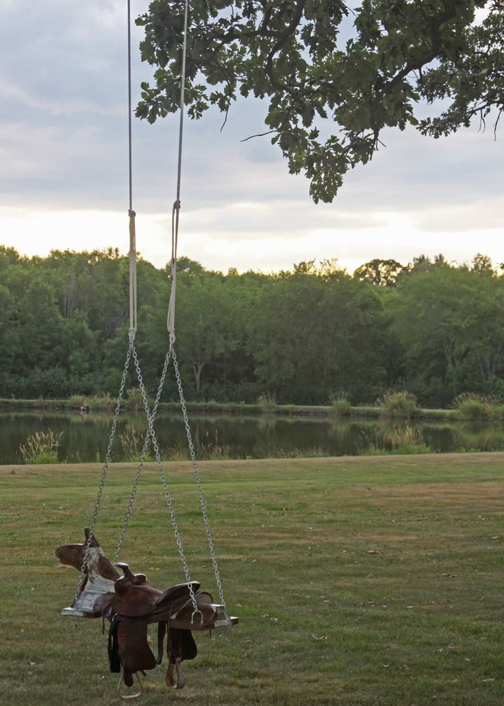 Outdoor Horse And Saddle Swing   A Spotted Pony.  I have to put one of these in!!