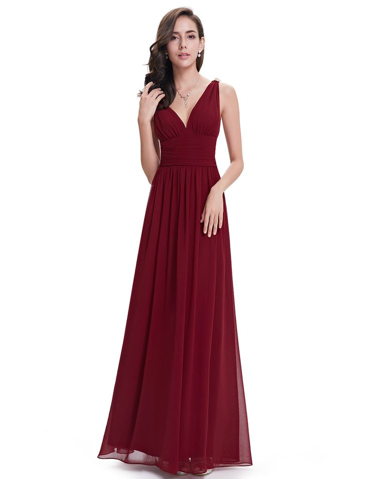 24$ Ever-Pretty Red Double V Elegant Evening Dress - Ever-Pretty US