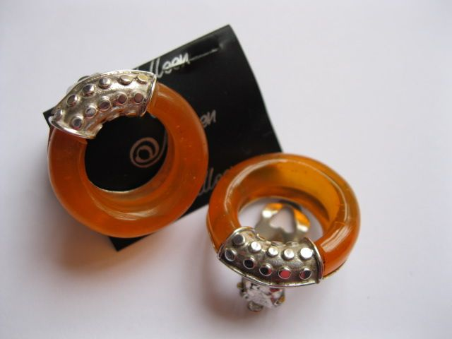 Amber Earrings Clip – Pearl Jewellery