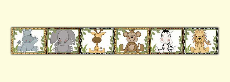 jungle animals wallpaper border - Google zoeken