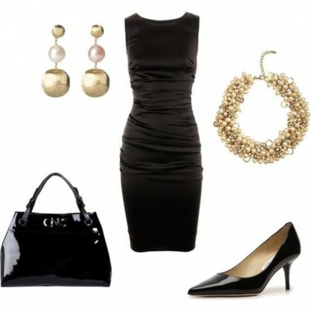 Elegant Polyvore Combinations For A Holiday Office Party: