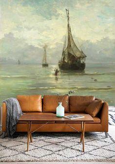 Fotobehang Kalme zee van Mesdag