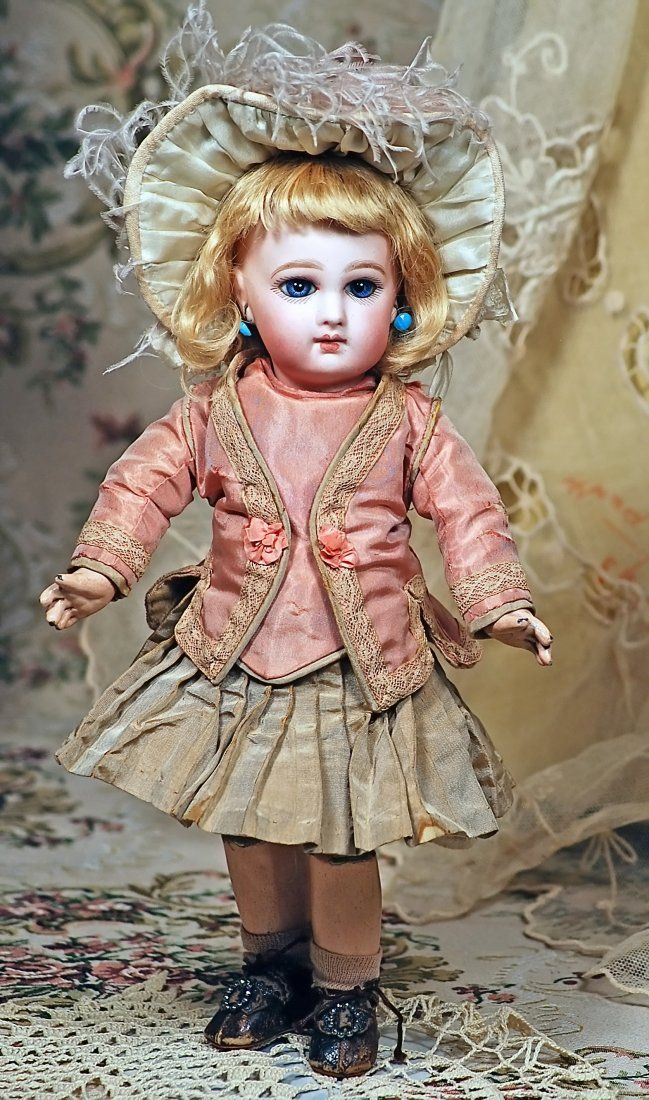 "Lot: EARLY FRENCH BISQUE ""INCISED DEPOSE BEBE"" BY JUMEAU, Lot Number: 0012, Starting Bid: $1,500, Auctioneer: Frasher's Doll Auction, Auction: Fashion Parade, Date: October 30th, 2016 CDT"