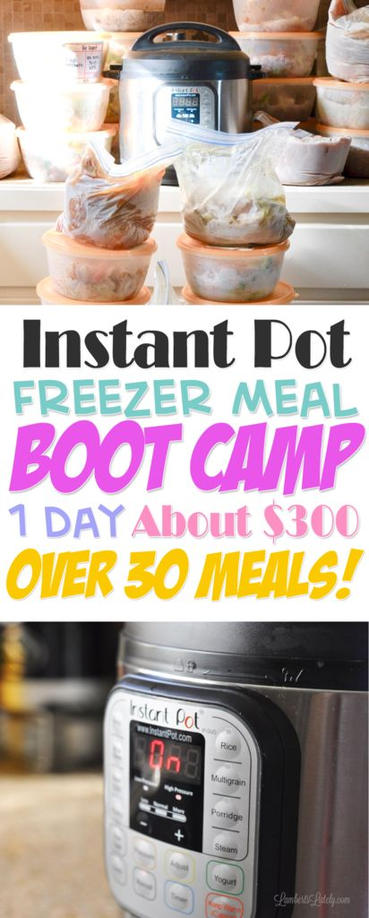 Instant Pot Freezer Meals || Freezer Meal Boot Camp || Electric Pressure Cooker || Easy Recipes || Simple Dinners || Food || Ground Beef || Chicken || Pork || Pressure Cooking || Printable Freezer Meal Labels