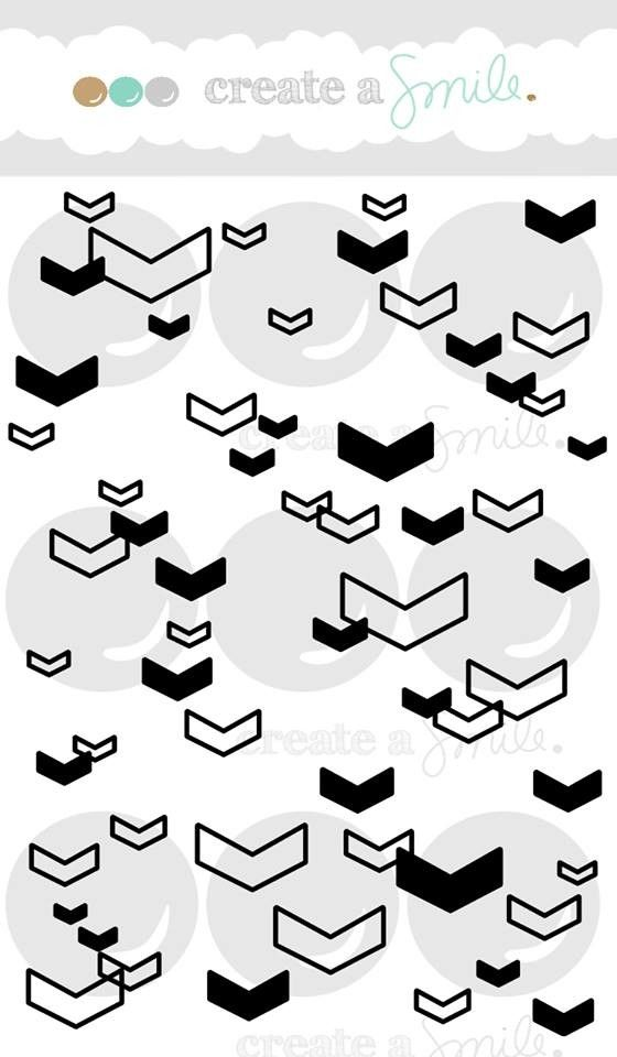 Floating Chevrons - create a smile stamps