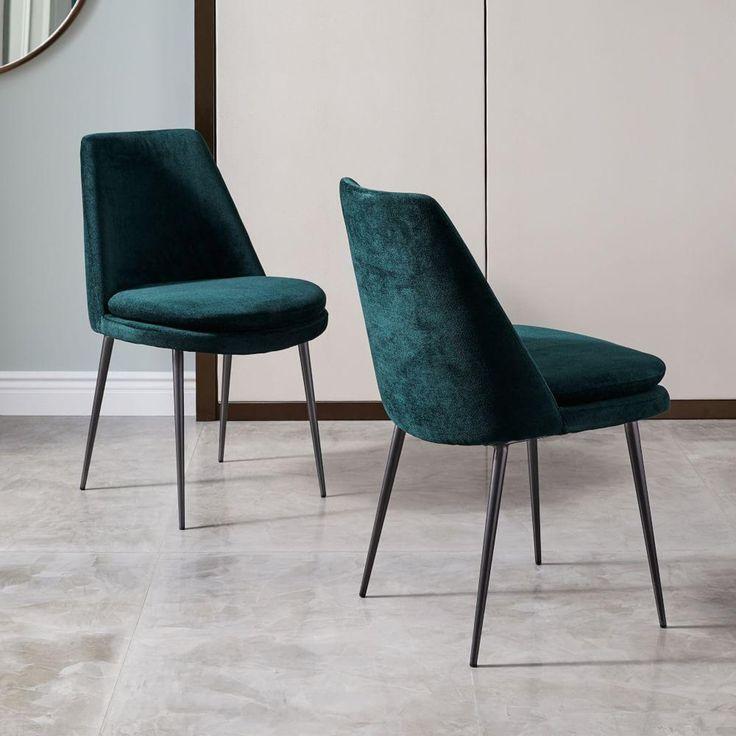 Finley Low Back Velvet Dining Chair Furniture