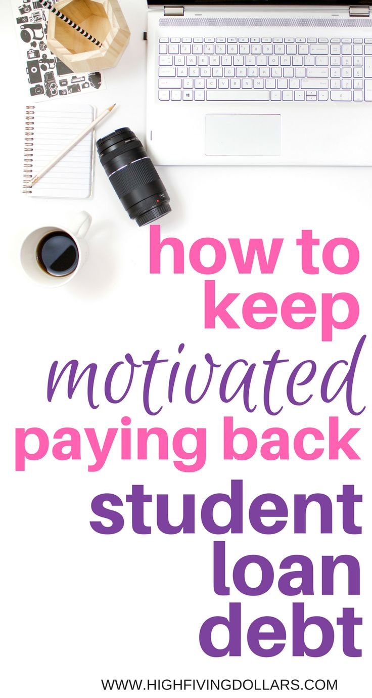 Feeling low when thinking about paying back student loan debt? You just need some motivation! Read this blog post to find out some hacks you can use to keep motivated paying back student loan debt.