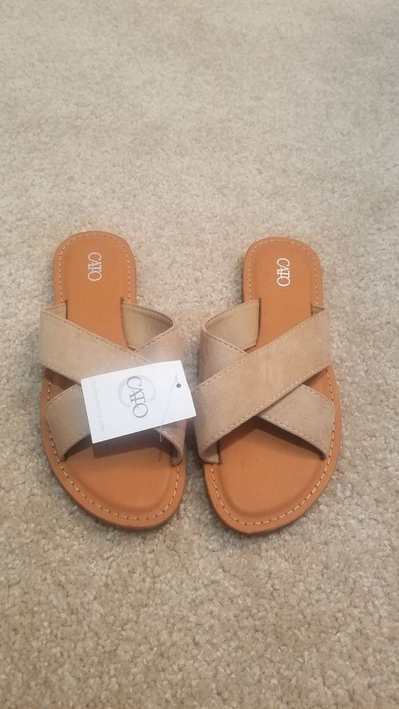 958bc00ad47e Cato Sandals Size 7 Seven Ladies Shoes New NWT Beige  fashion  clothing   shoes