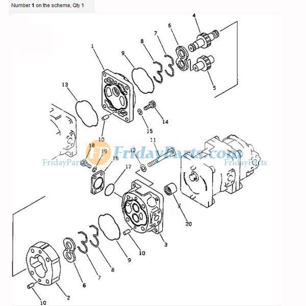 For Komatsu Wheel Loader WA420-1LC WA420-1 Loader and