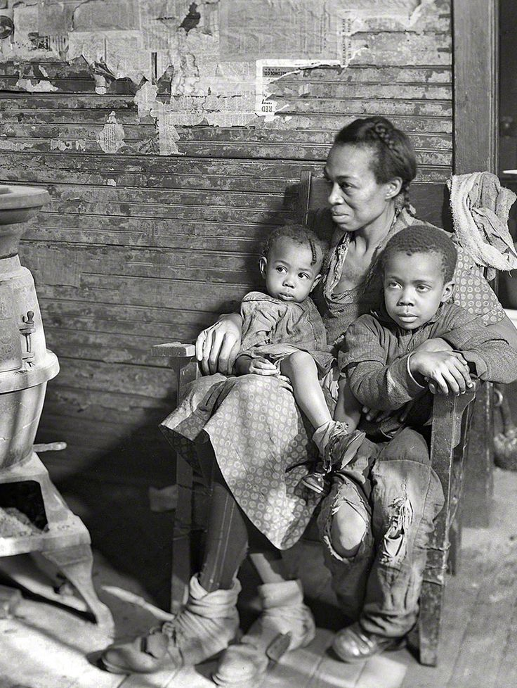 """+~+~ Vintage Photograph ~+~+   March 1937. Scott's Run, West Virginia. """"Johnson family -- father unemployed."""" Photograph by Lewis Hine"""