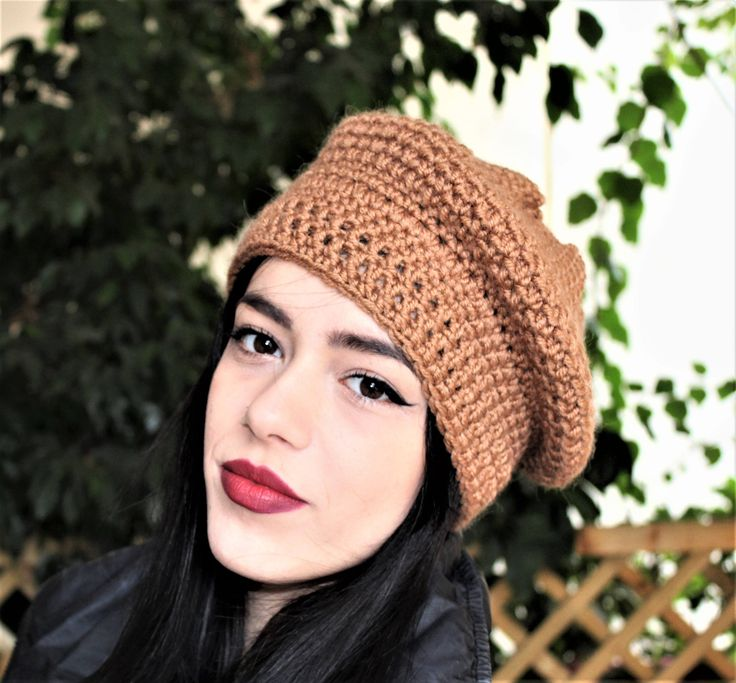 Excited to share the latest addition to my #etsy shop: French beret hat, Hand knit hat, Knit hats women, Winter woolies, Ladies crochet hat, Wooly hat womens, Brown knit hat, Free shipping http://etsy.me/2CG1MiP #accessories #hat #beige #birthday #valentinesday #brown