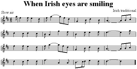 When Irish Eyes are Smiling                                                                                                                                                                                 Plus