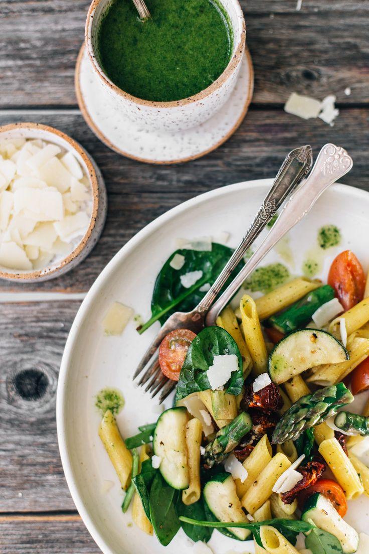 Spring Pasta Salad w/ Lemon & Basil (GF) | tuulia blog