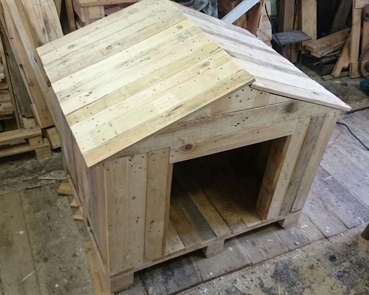 custom size dog house from repurposed wooden pallet / egyedi méretű raklap kutyaházikó