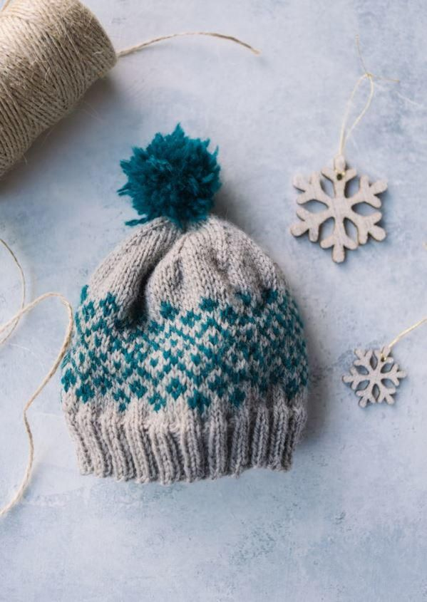 "<a href=""http://www.allfreeknitting.com/tag/Fair-Isle-Knitting"" target=""_blank"">Fair isle knitting</a> doesn't have to be intimidating. In fact, it can be quite fun when it's as easy as in this Shetland Baby Knit Hat! This is an easy baby hat knitting pattern, as it keeps floats to five stitches or less so there's no awkward float-trapping, and features an easy-to-memorize six-stitch repeat chart for <a href=""http://www.allfreeknitting.com/Knitting-Col..."