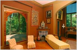 Frederic Church's studio at Olana in Hudson, New York--a Persian-inspired retreat and a true inspiration.