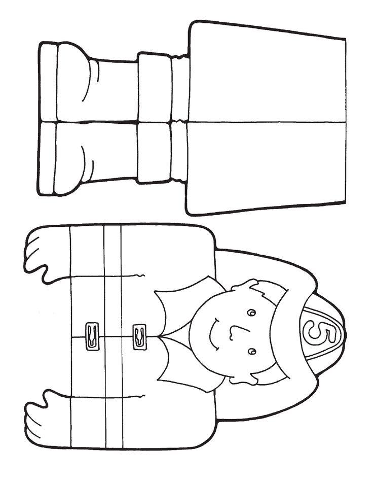 firemen paper bag puppet