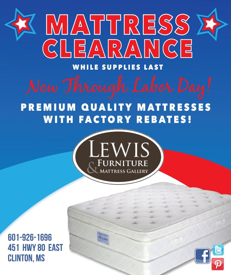 Don T Miss Out On This Huge Mattress Clearance Going Now Through Labor