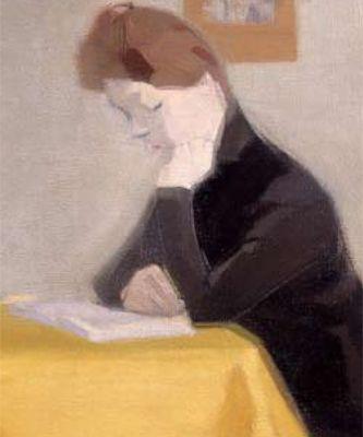 Liseuse, Helene Schjerfbeck (Finnish, 1862-1946).