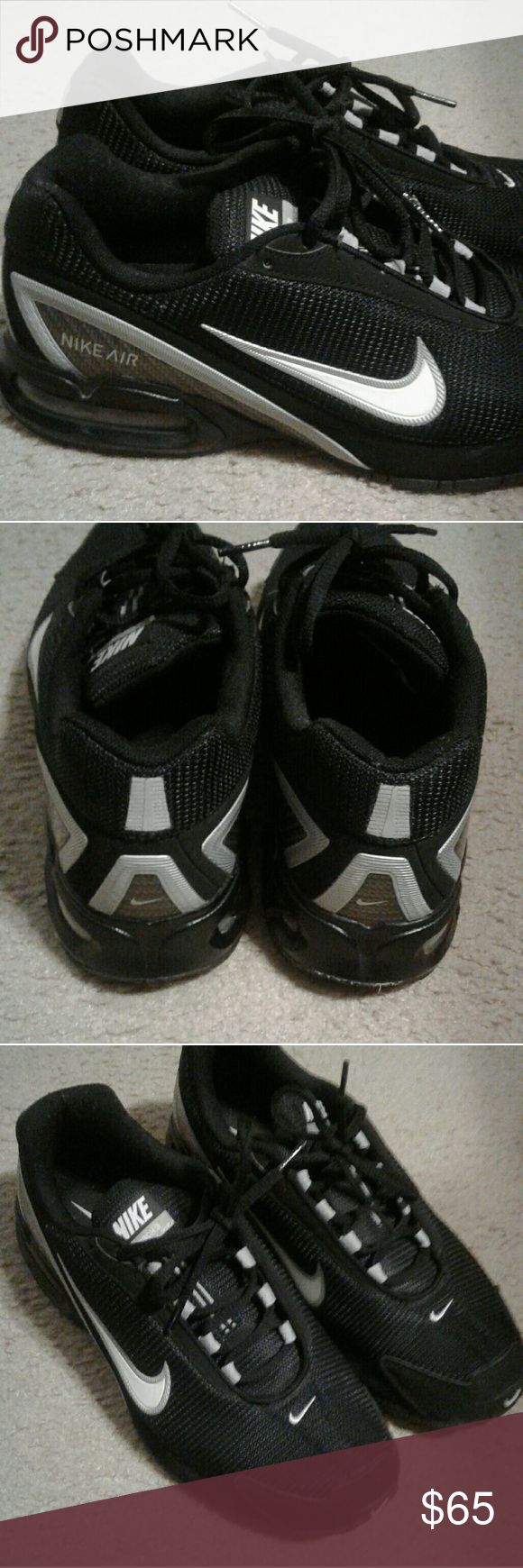 Nike Air Black and White Nike Air men size 9, ladies can wear them too Nike Shoes Sneakers