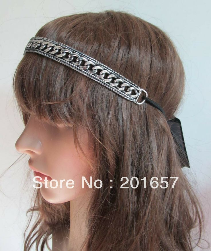 Wholesale and Retail korea style silver alloy chain vintage headbands hiar accessories 6pcs/lot $25.00