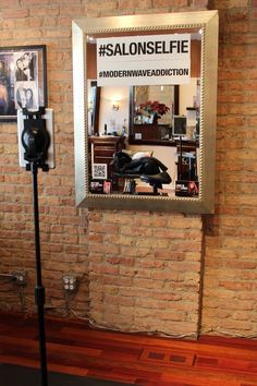 Photo of Modern Wave Salon - Chicago, IL, United States. Modern Wave has a fun and trendy Selfie Station so you can conveniently share your new look on social media.