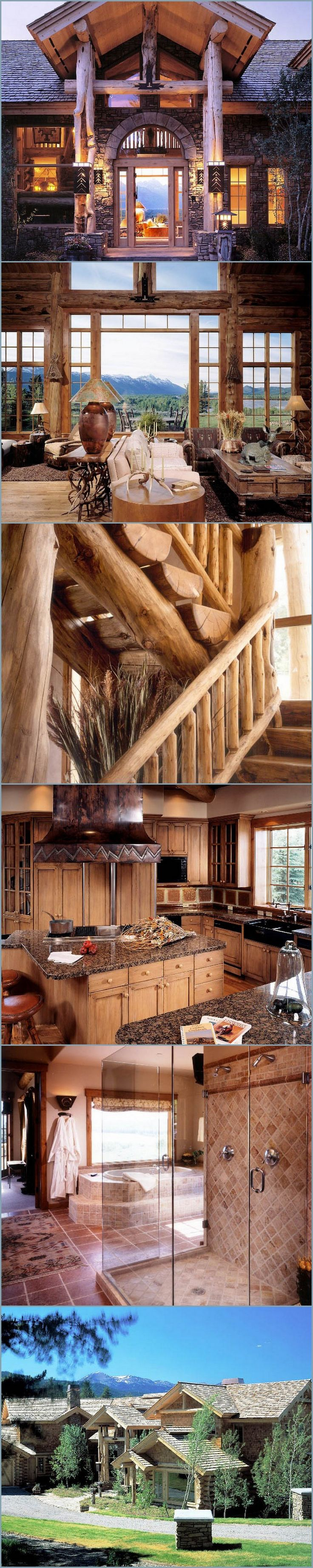Forest Ledge Custom Log Home by Architect Eliot Goss @styleestate
