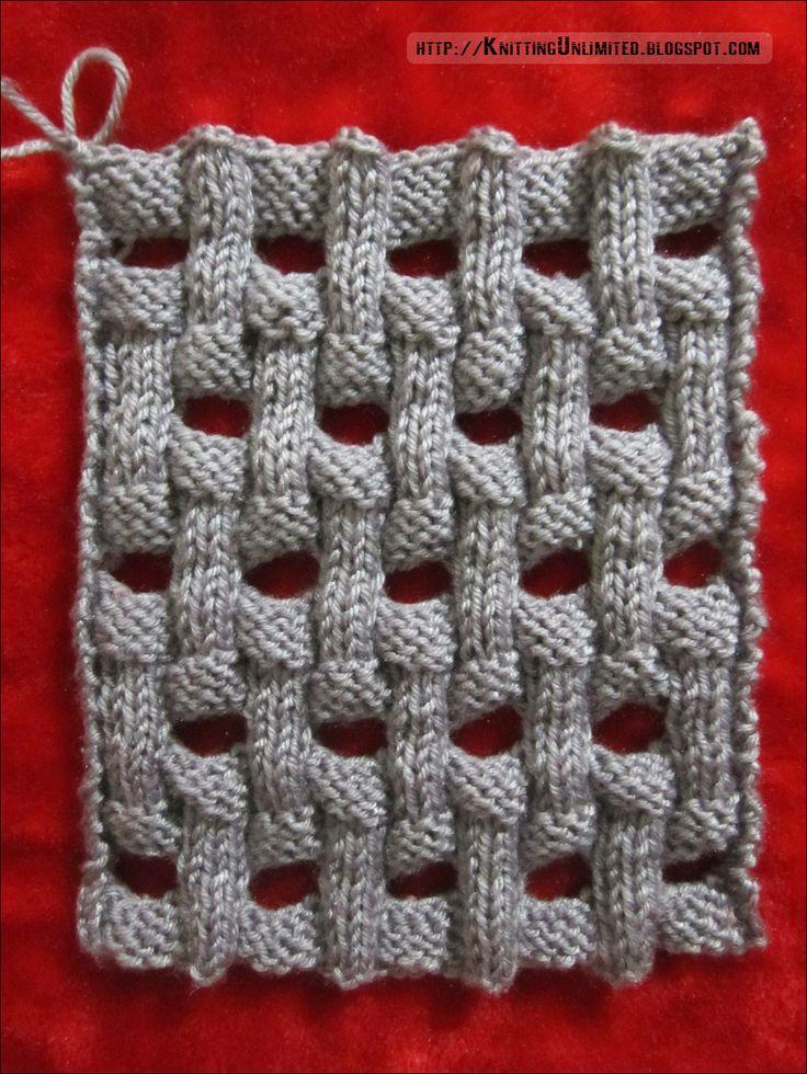 Openwork Basket Weave Knitting Pattern